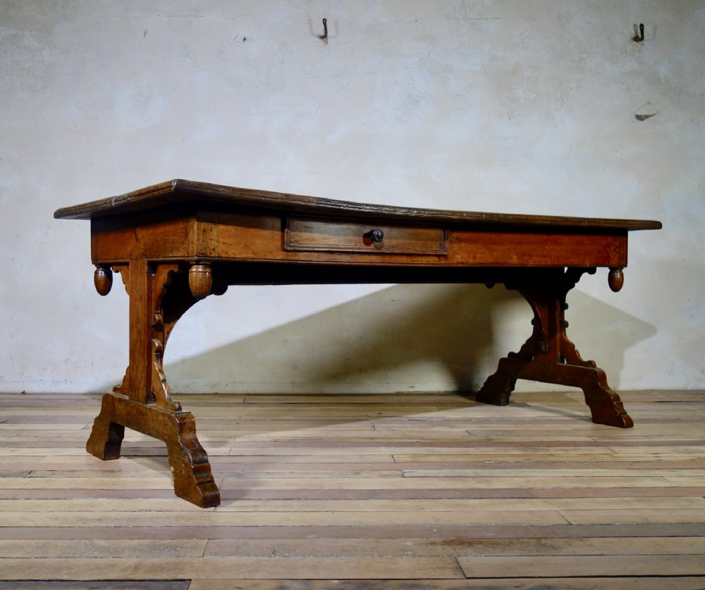 a large 18thcentury french provincial farmhouse kitchen table
