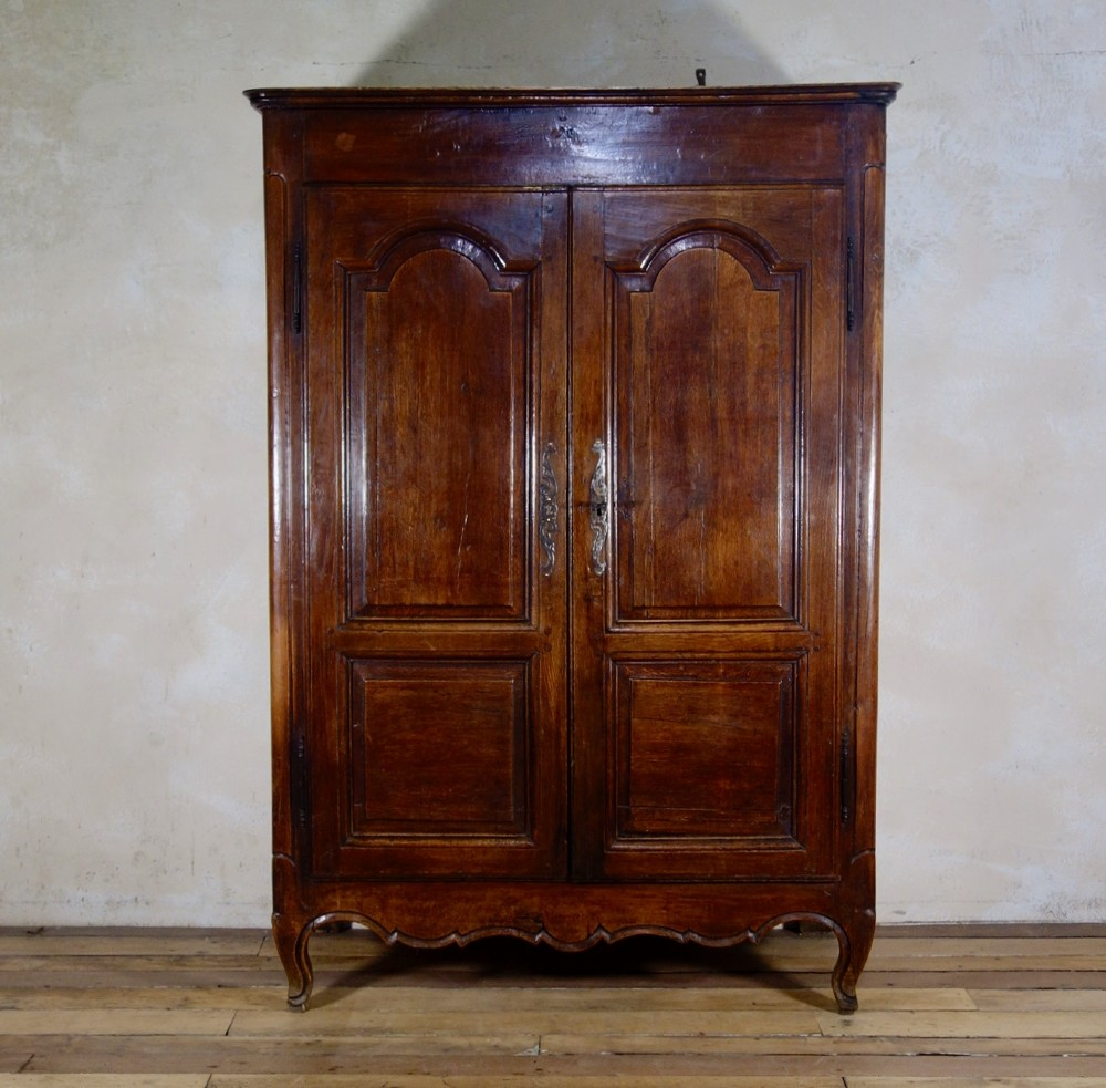 a small 18th century french provincial oak armoire wardrobe cupboard
