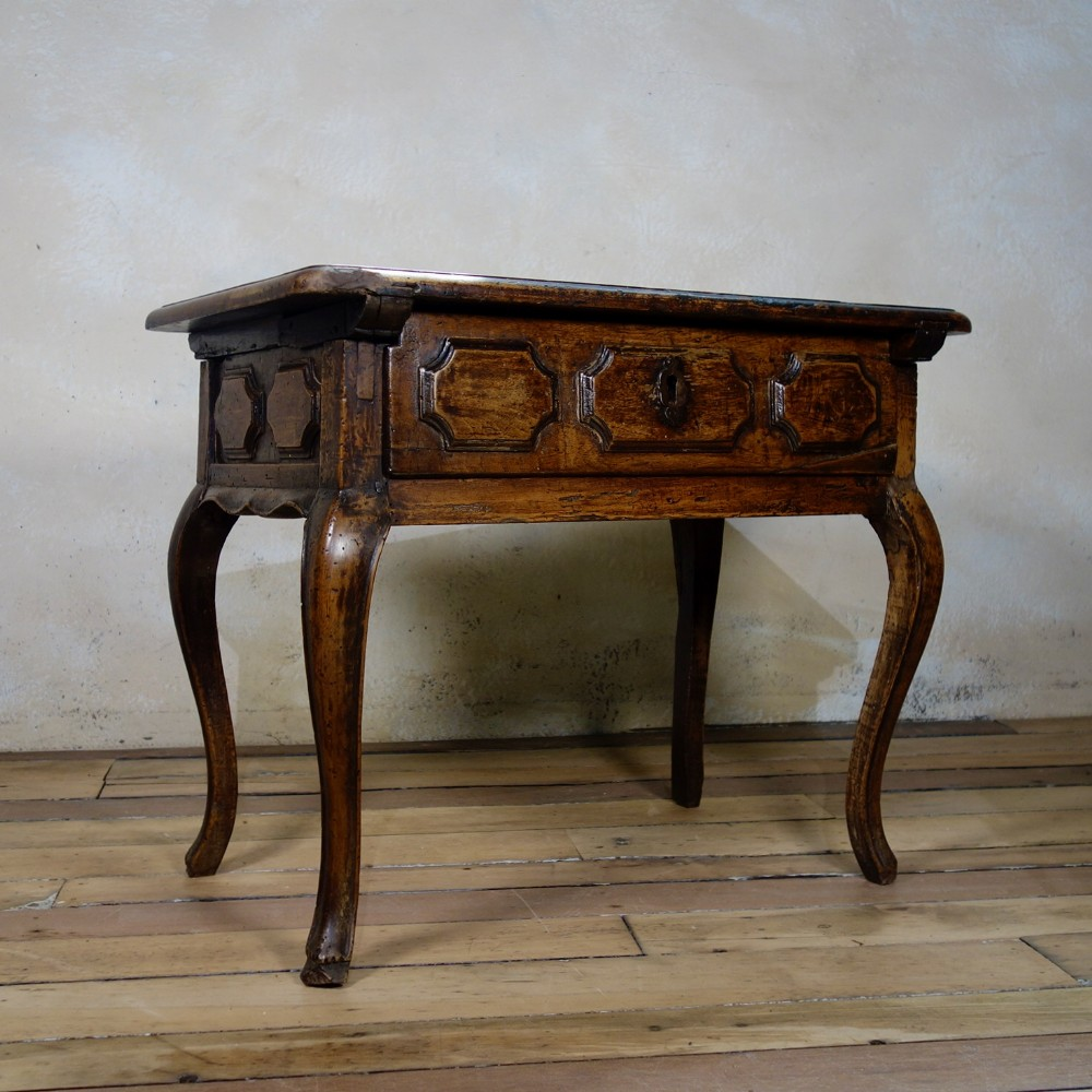 a charming 19th cent small french walnut side table