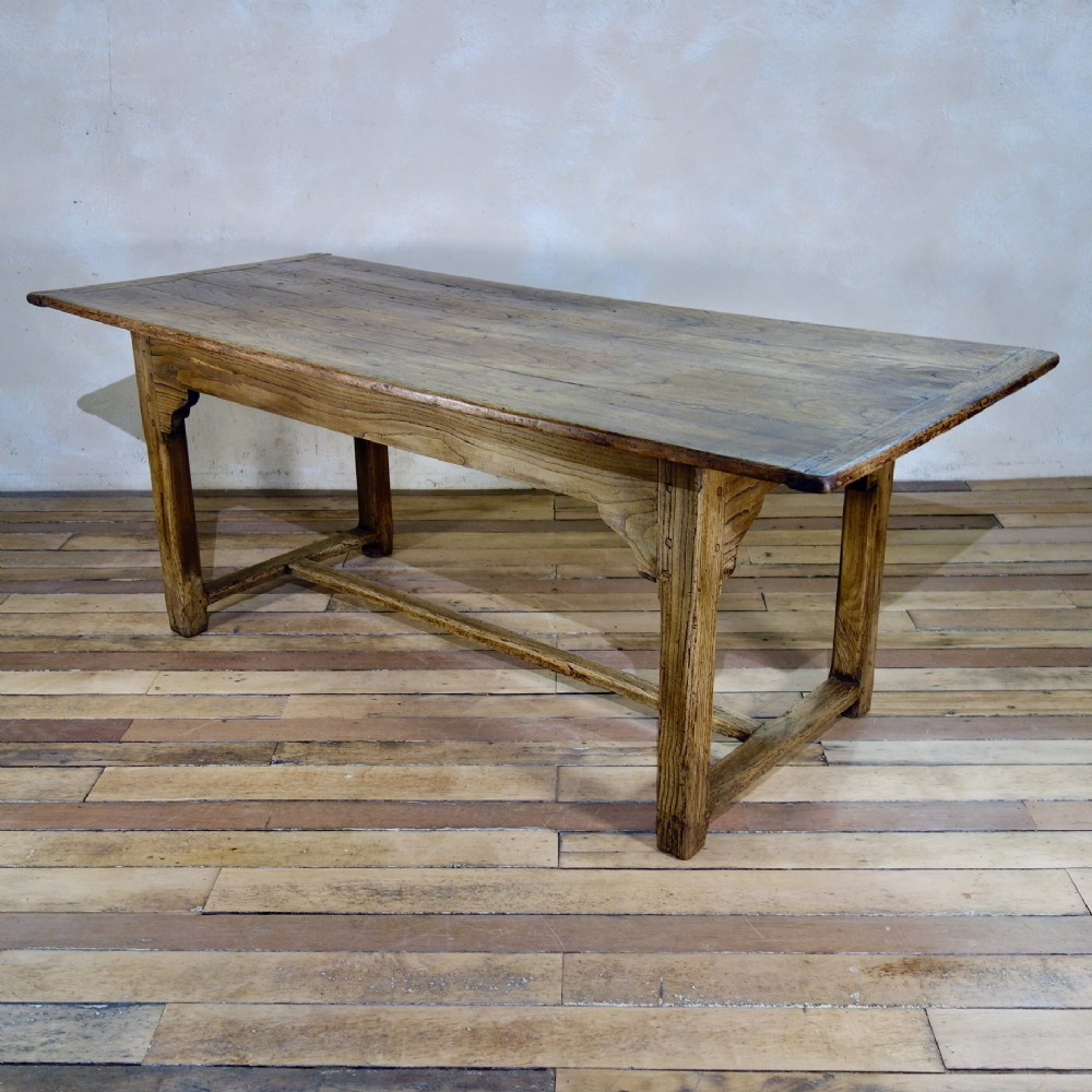 an early 19th century french elm farmhouse table refectory kitchen dining