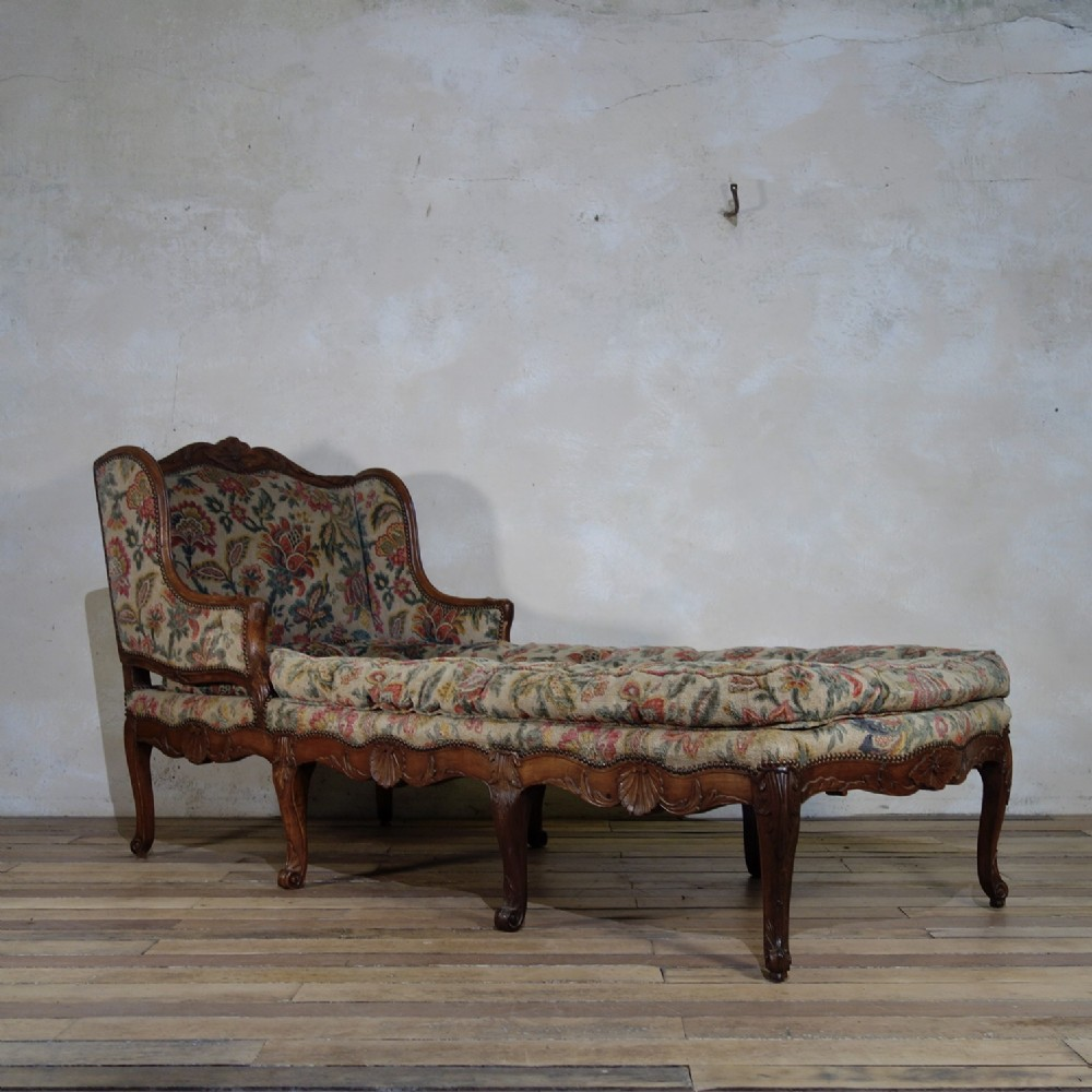 a large 18th century french chaise longue day bed