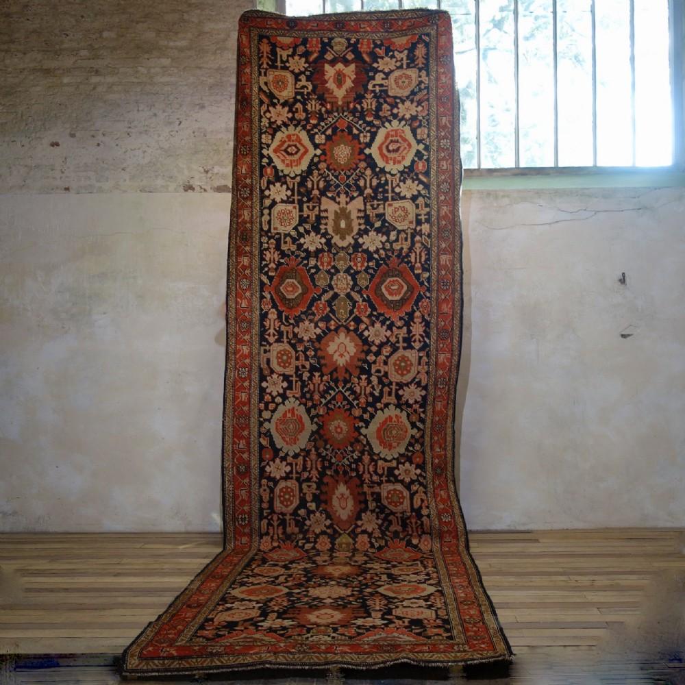 extremely long 54meters early 20th century kuba kelleh corridor carpet rug