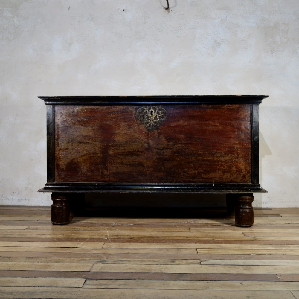 a large 19th century indo dutch chest trunk
