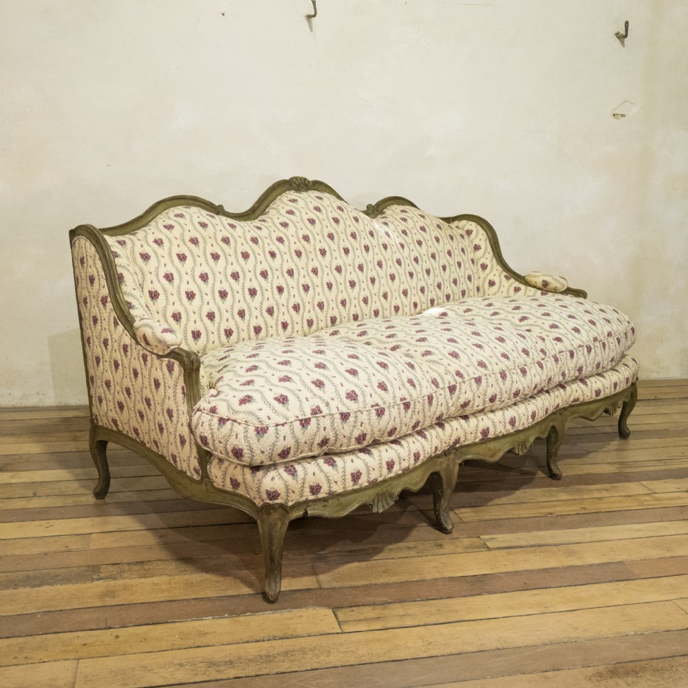a louis xv period canap oreilles serpentine shaped sofa settee