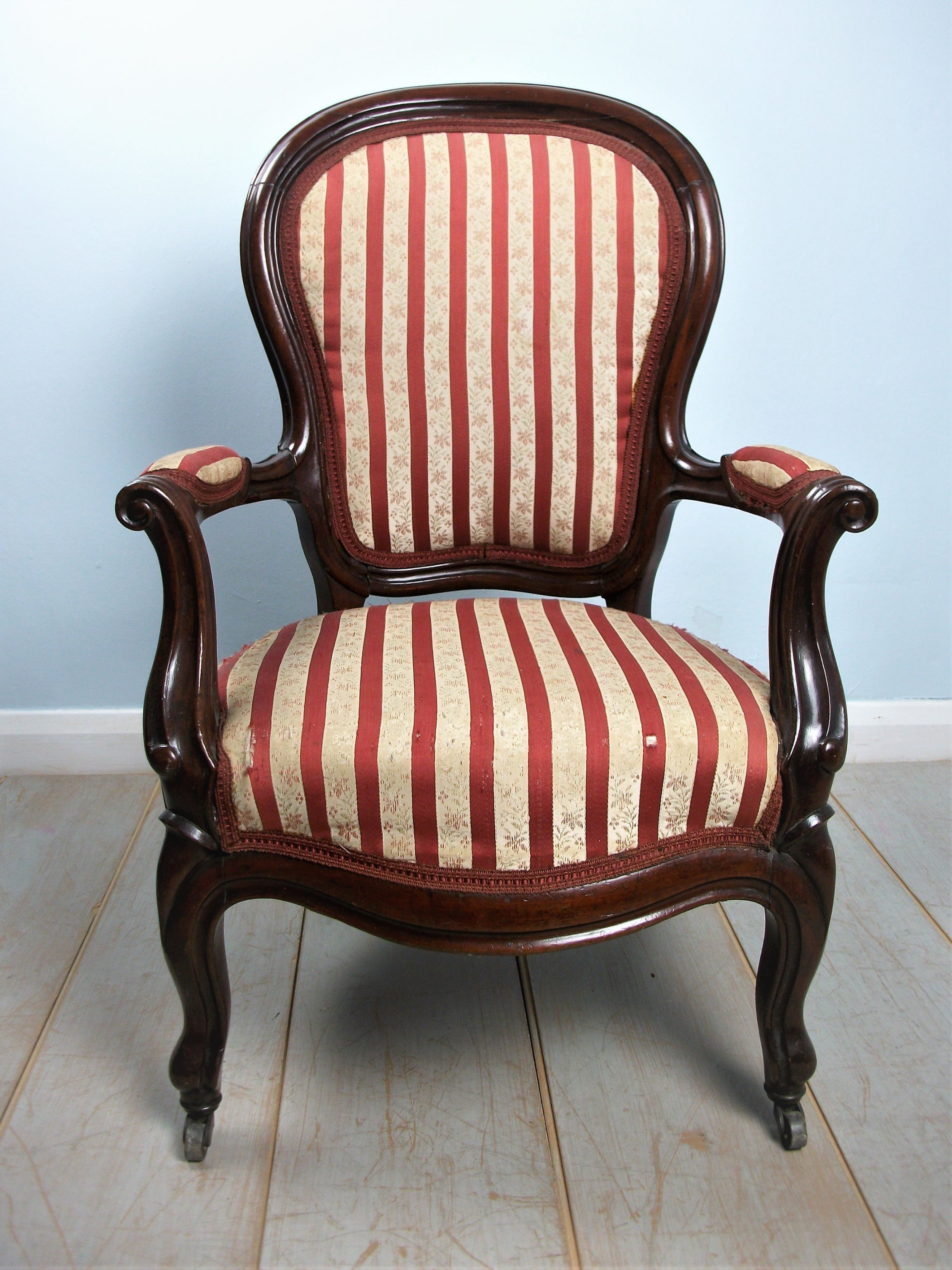 small victorian mahogany childs bergere chair open armchair