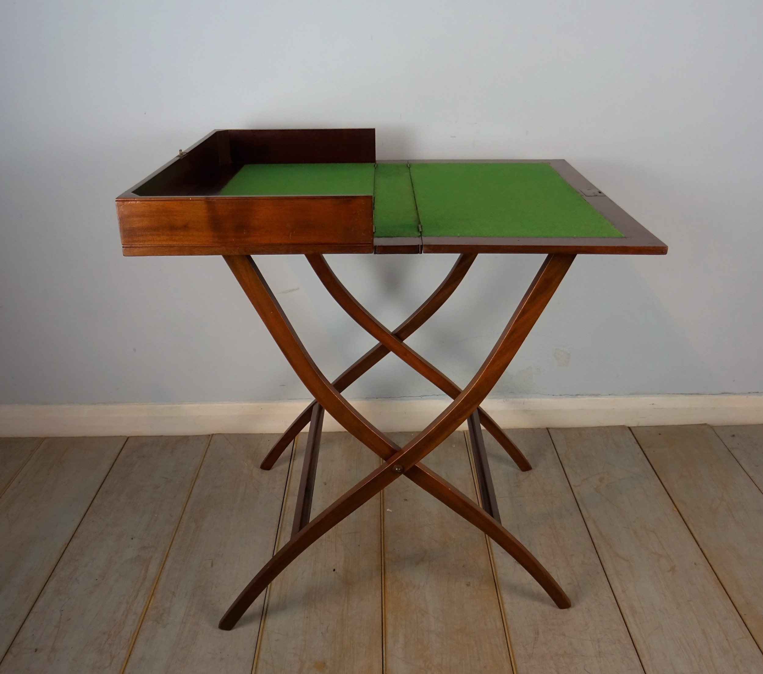 mahogany campaign folding desk coaching table