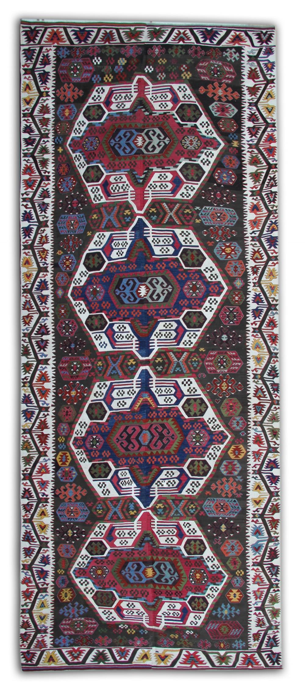 handmade kilim antique carpet anatolian turkish kilim rug 172x440cm