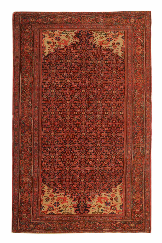 rare handmade antique persian malayer rug 127x203cm