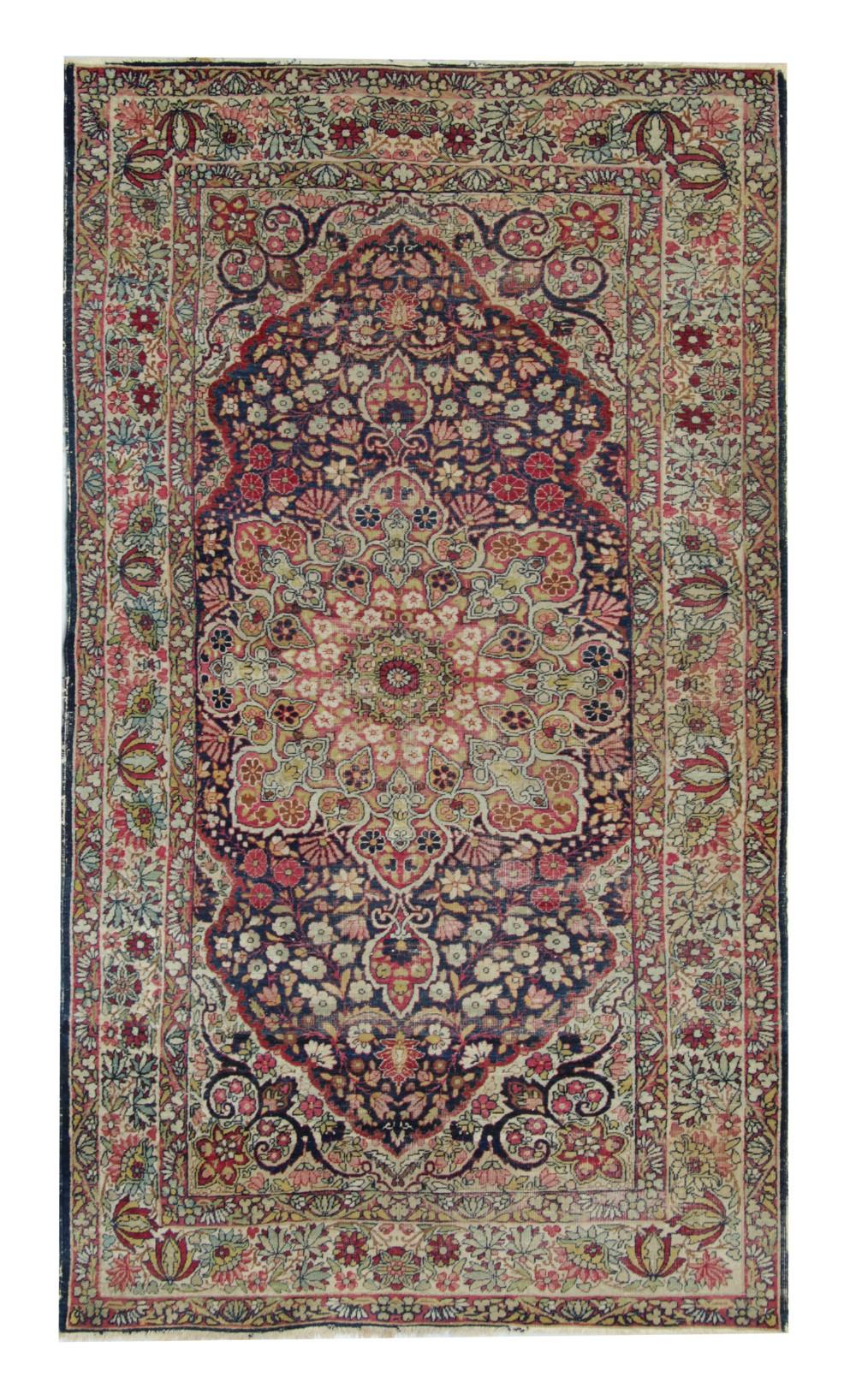antique carpet persian rug medallion handwoven oriental wool rug 126x230cm