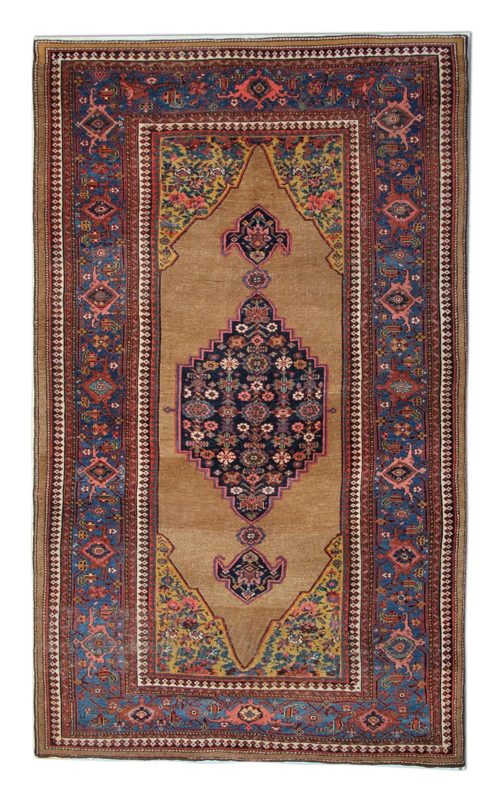 antique persian koliai rug handwoven wool rug 157x 266 cm
