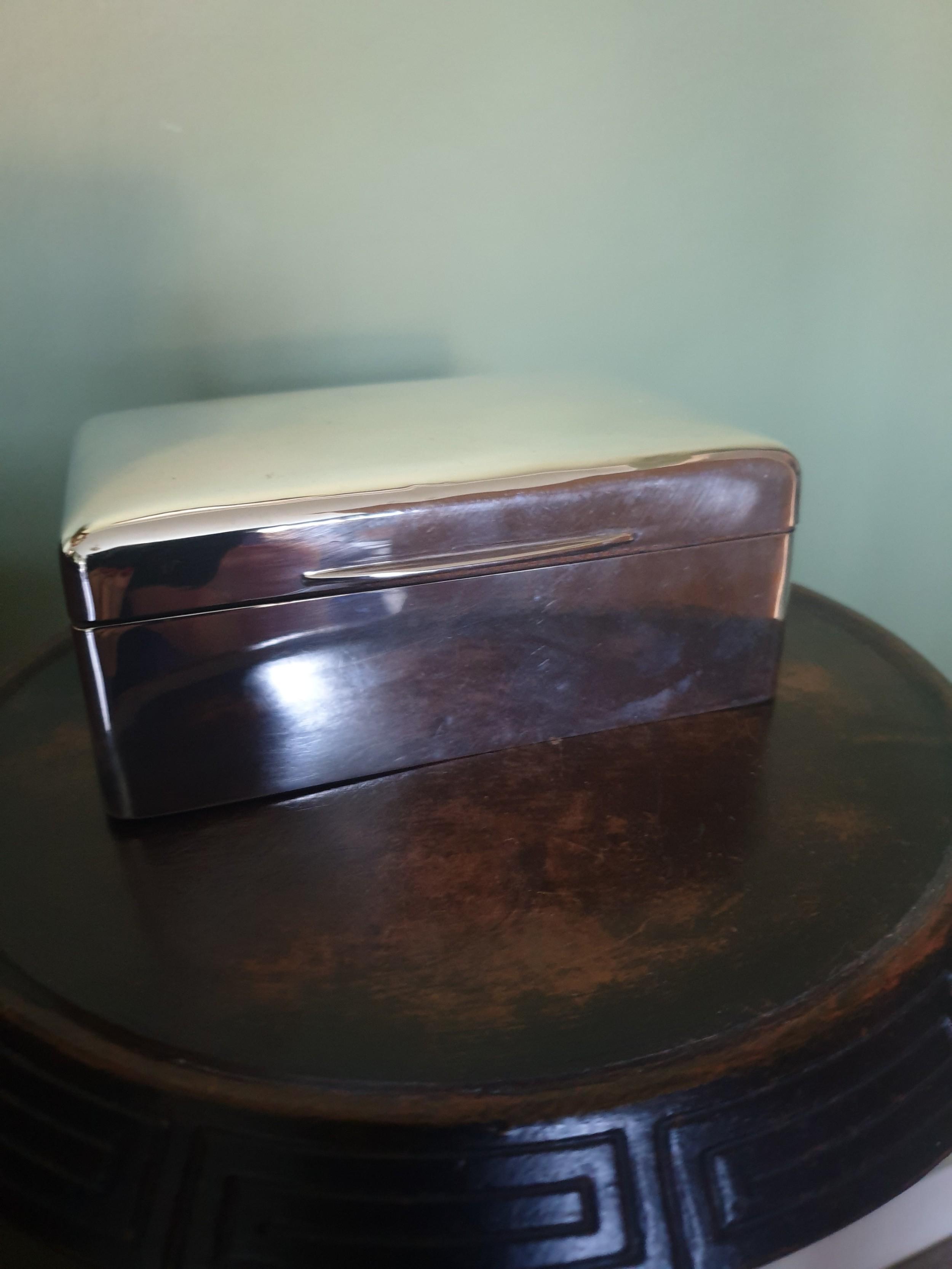 sterling silver cigarette box birmingham 1910
