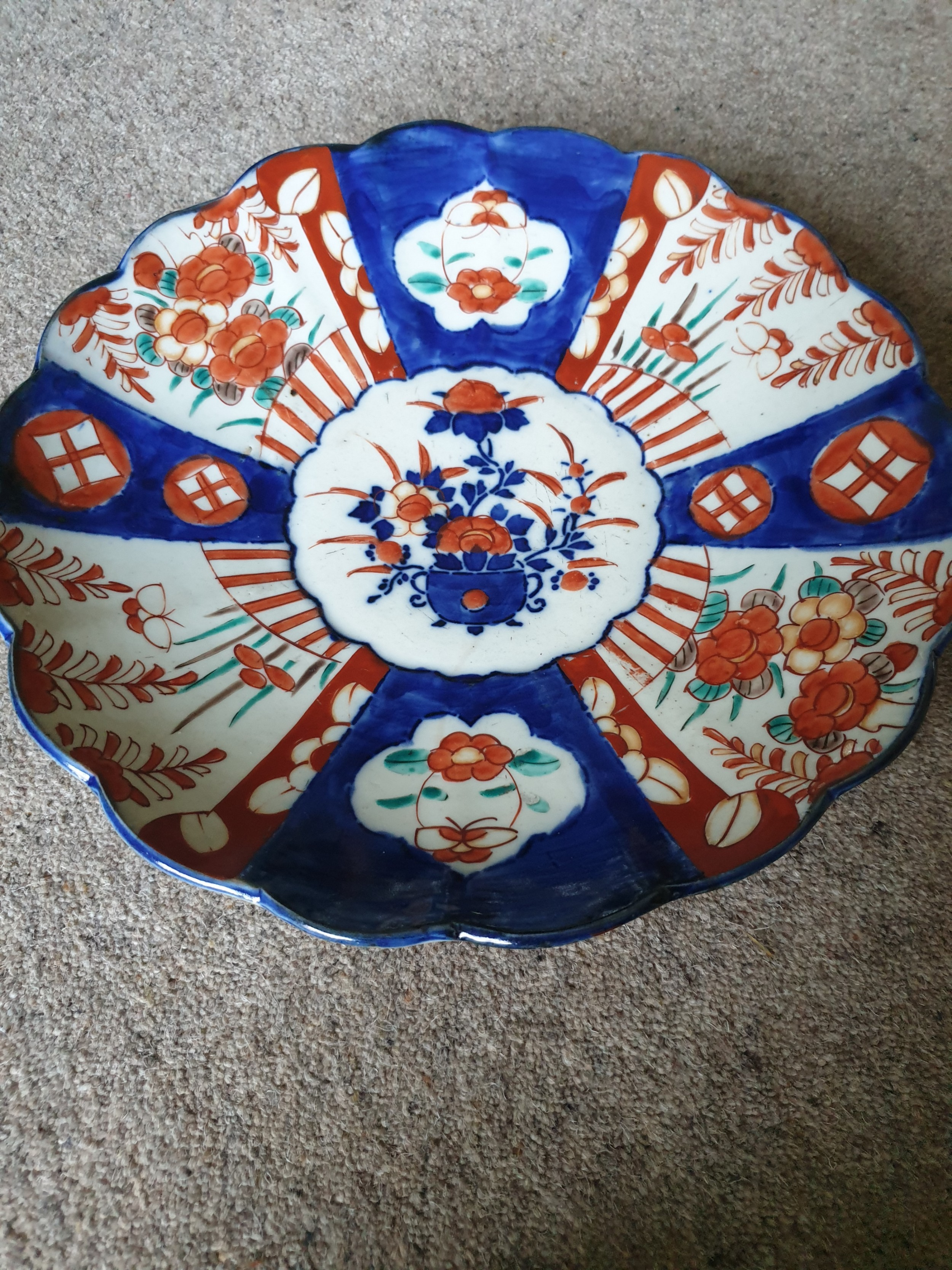 a 19th century imari charger of excellent condition