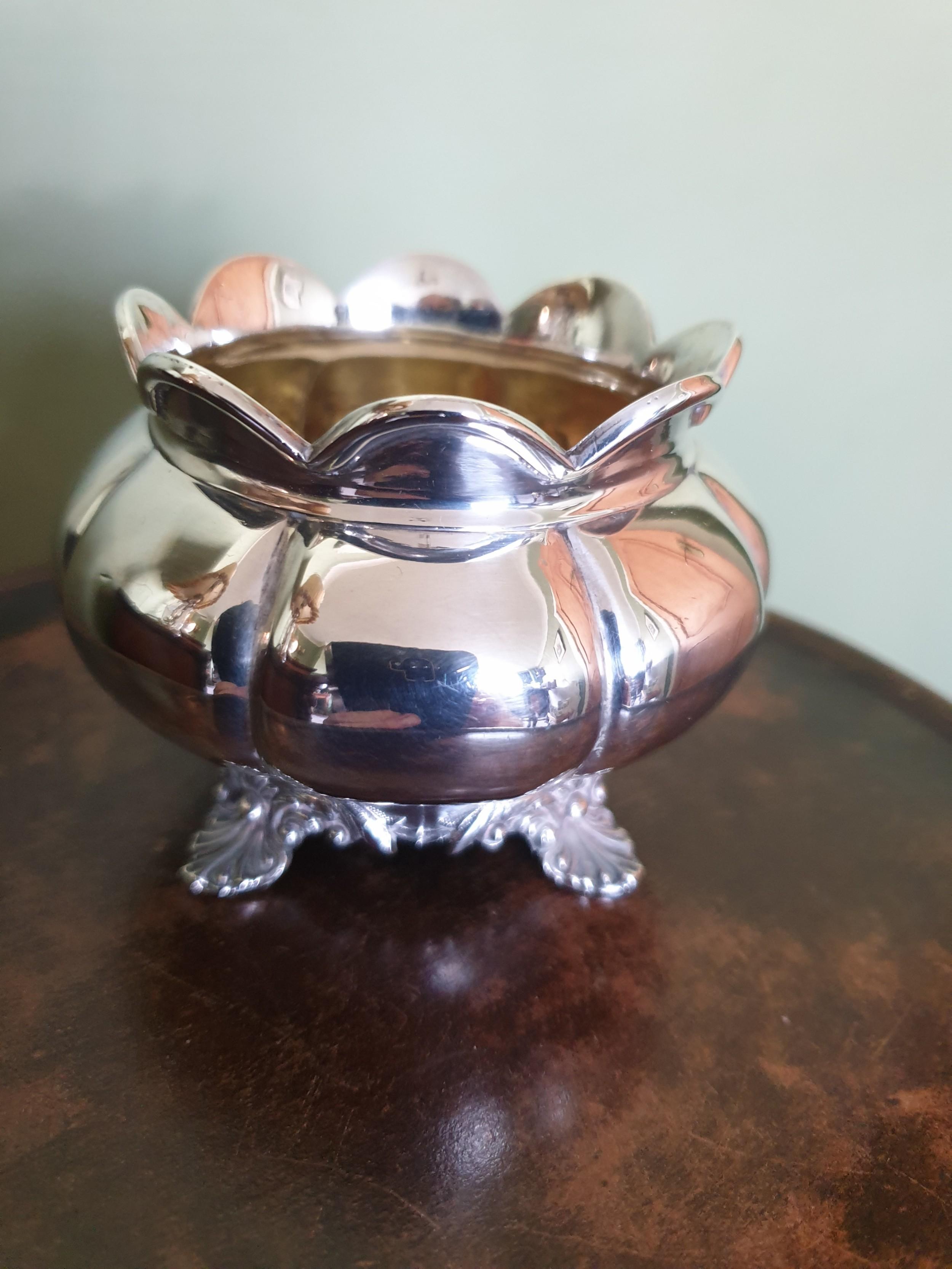william iv silver pot with lemon gilded interior hallmarked london 1834