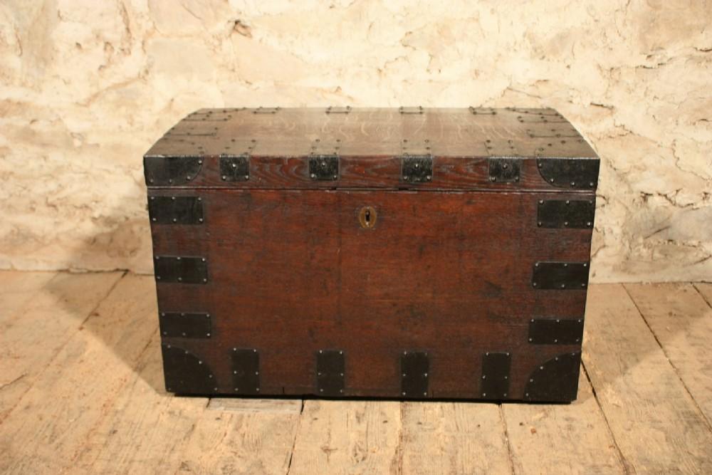 small oak silver chest