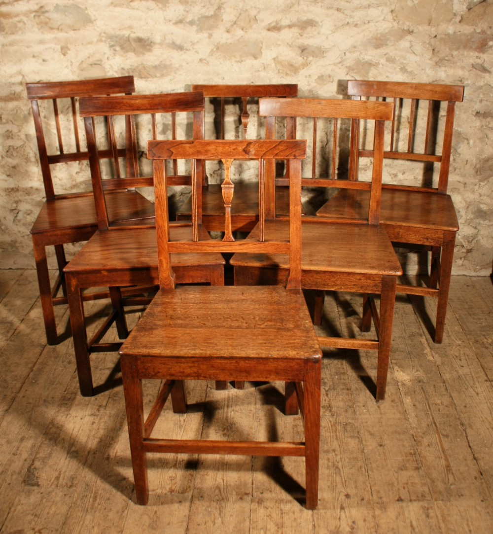 6 country dining chairs
