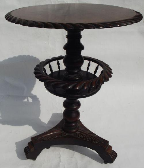 fine mahogany lamp table william iv period