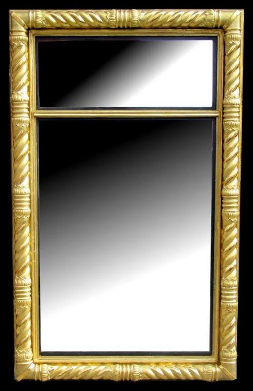 rare irish regency carved giltwood pier mirror circa 1815
