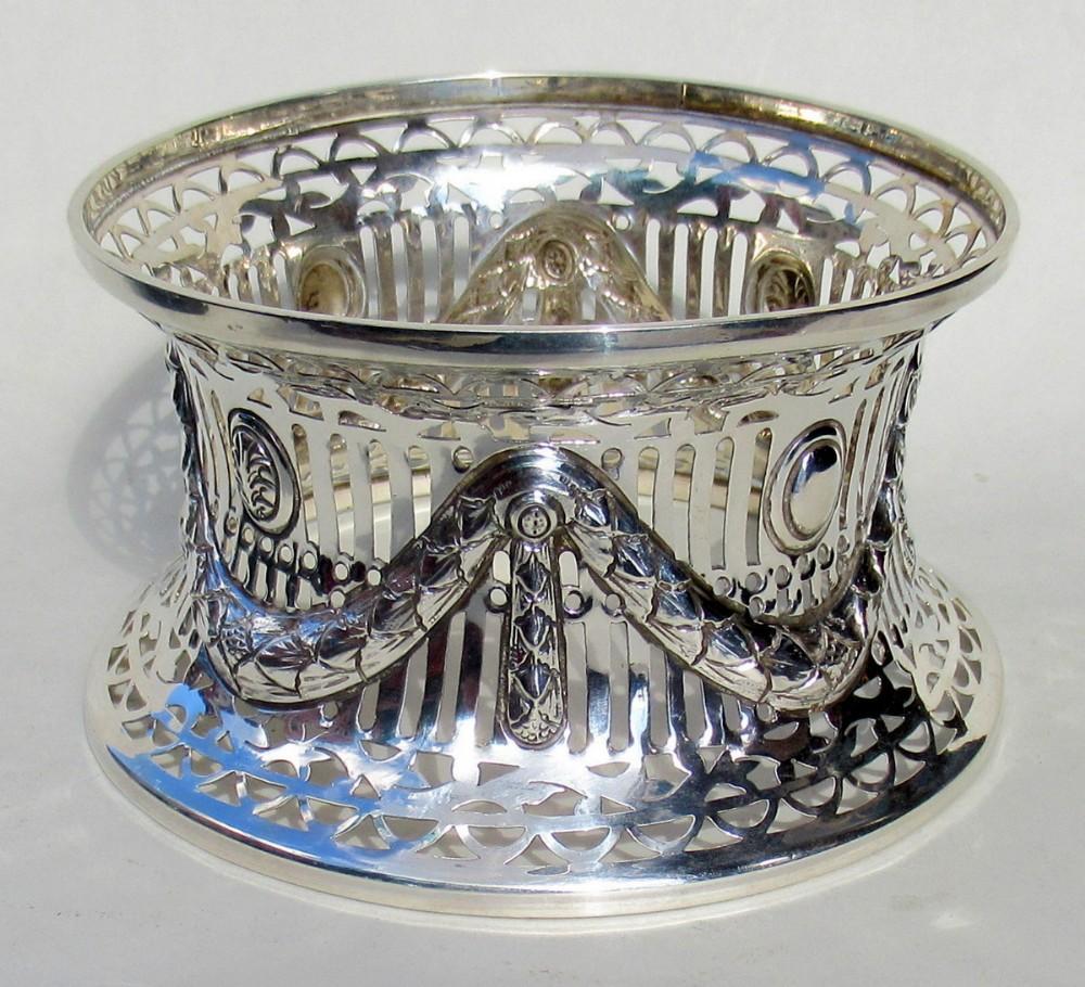 irish style silver dish ring birmingham 1913 williams ltd 8 ozs
