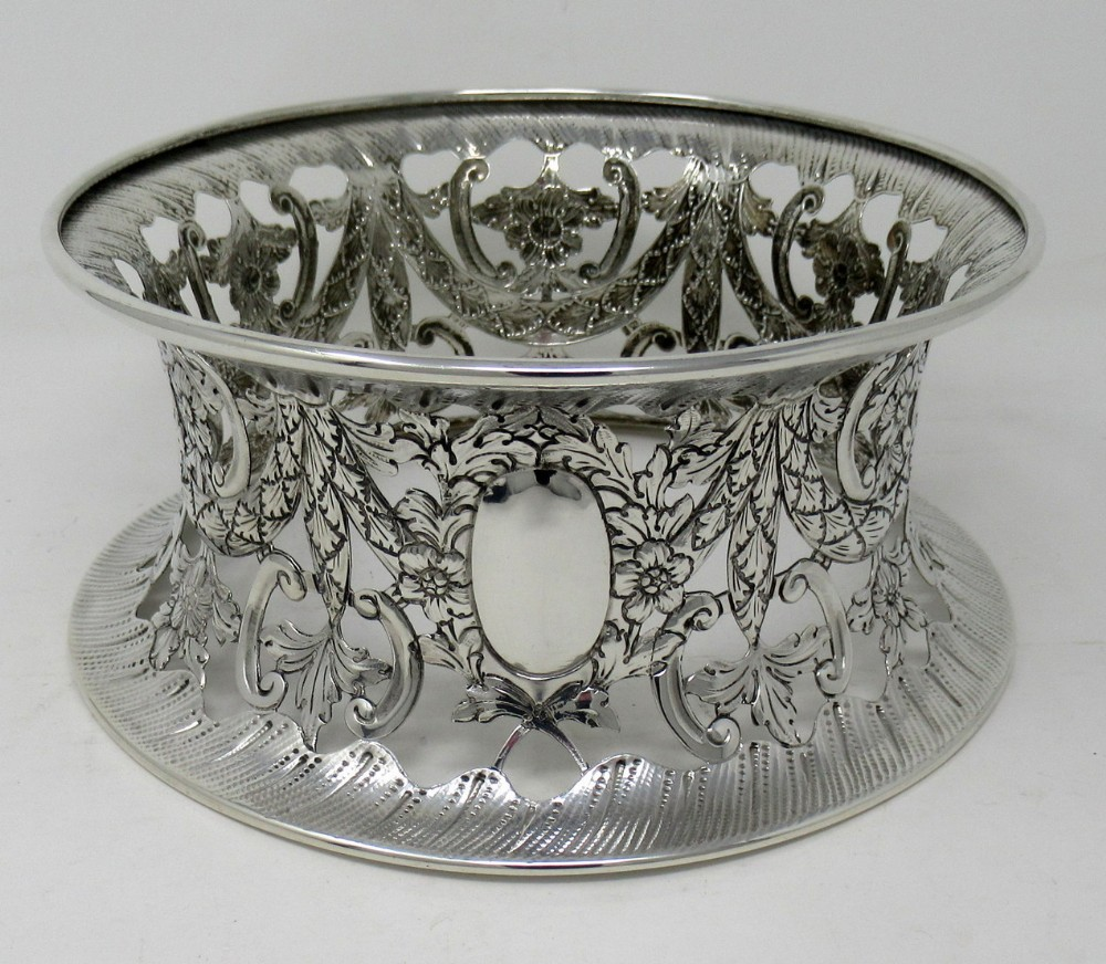 large irish style silver dish ring birmingham 1913 williams ltd 142 ozs