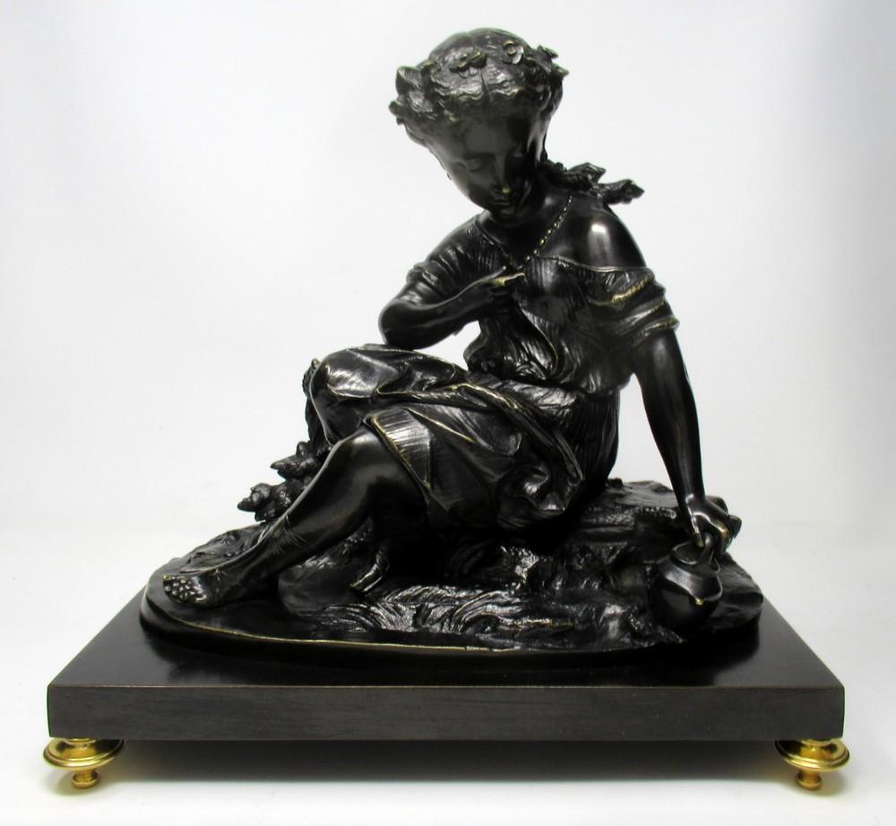 grand tour classical bronze figure infant bacchus attrib egisto rossi 19th century