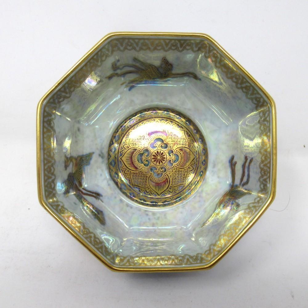 art deco wedgwood celestial chinese dragon lustre ware bowl daisy makeig jones