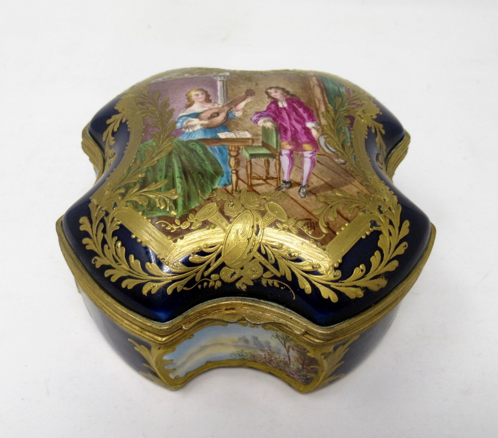 french sevres porcelain hand painted jewellery casket ormolu mounts 19th century