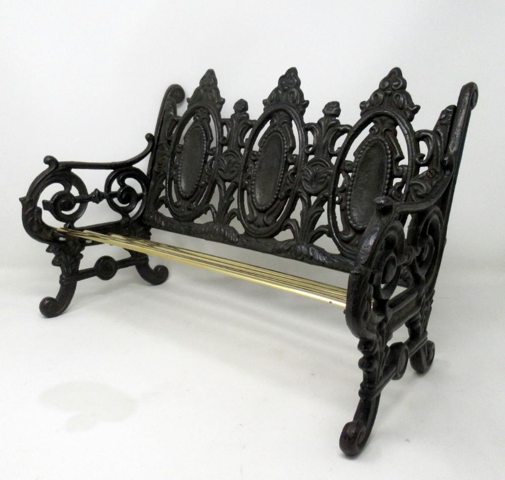 miniature dolls house cast iron brass seat or book trough attrib coalbrookdale