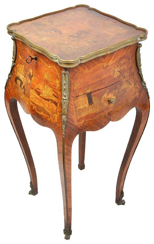 louis xvi style side table circa 1880