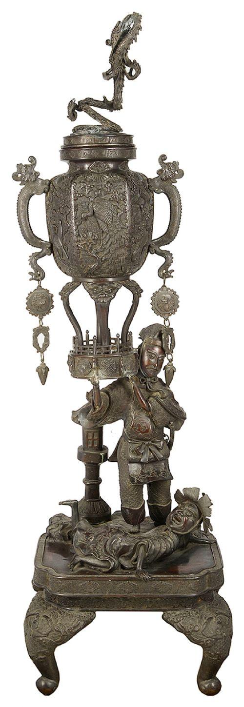large 19th century japanese bronze koro