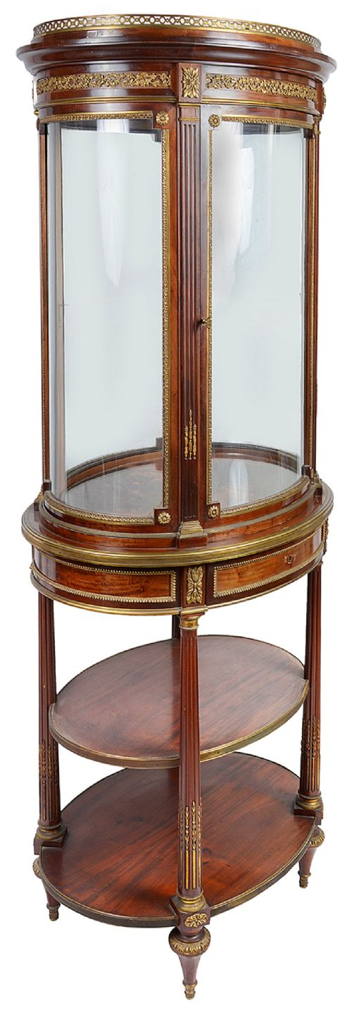 french 19th century free standing vitrine display cabinet edwards and roberts