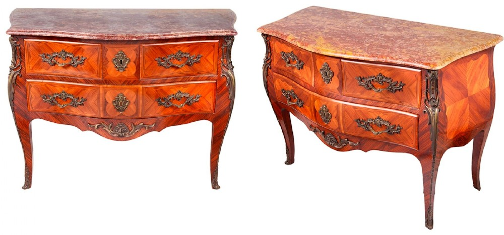 pair louis xvi style commodes late 19th century