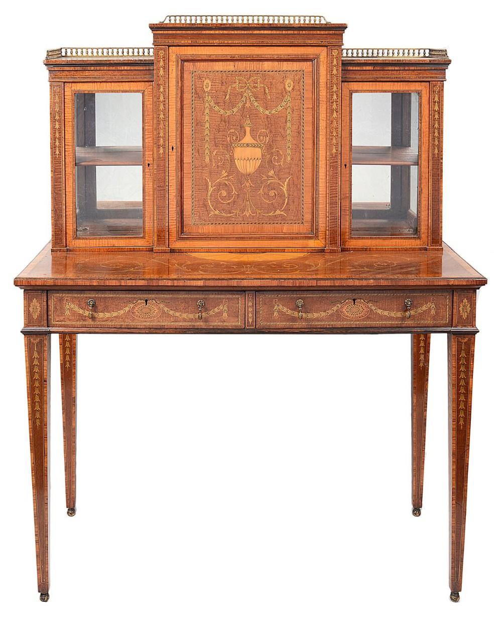 edwardian period inlaid side cabinet 19th century