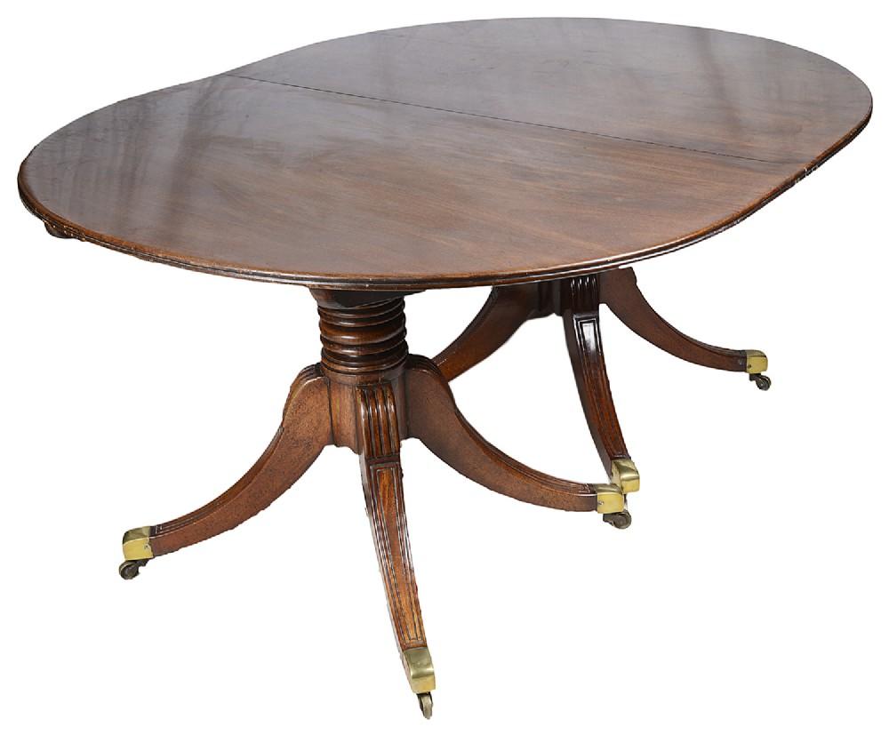regency period mahogany twin pedestal dining table circa 1820