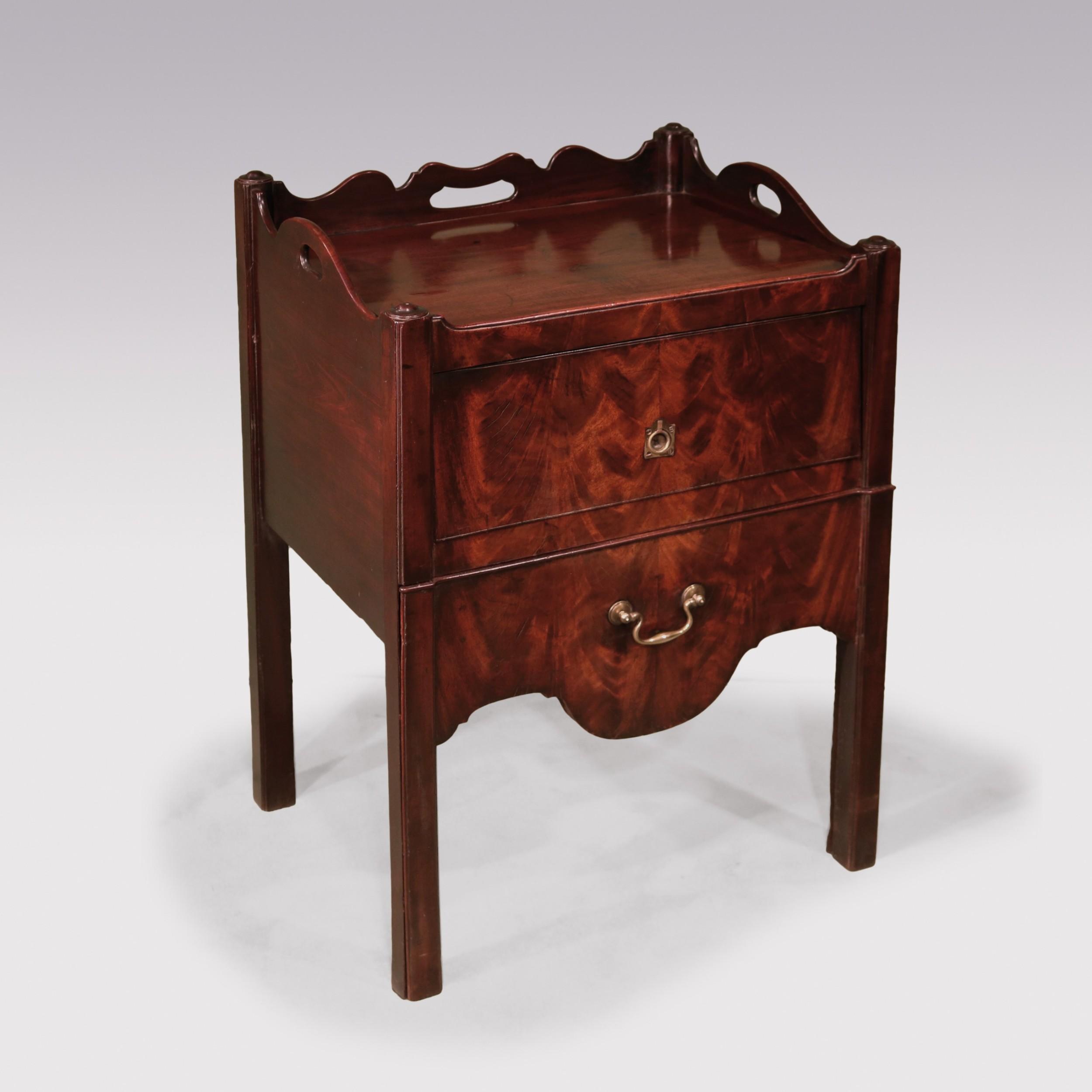 a george iii mahogany bedside cupboard