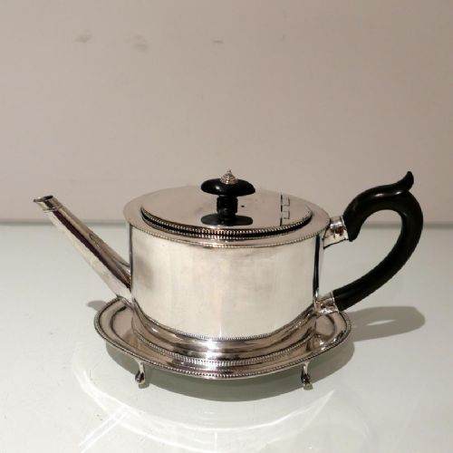 18th century antique george iii sterling silver teapot on stand newcastle 178486 john langlands john robertson