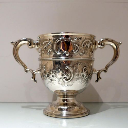 19th century antique victorian sterling silver large cup london 1896 george lambert