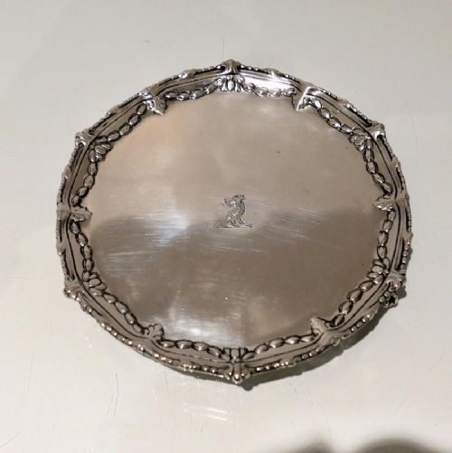 antique george iii sterling silver salver london 1772 john carter