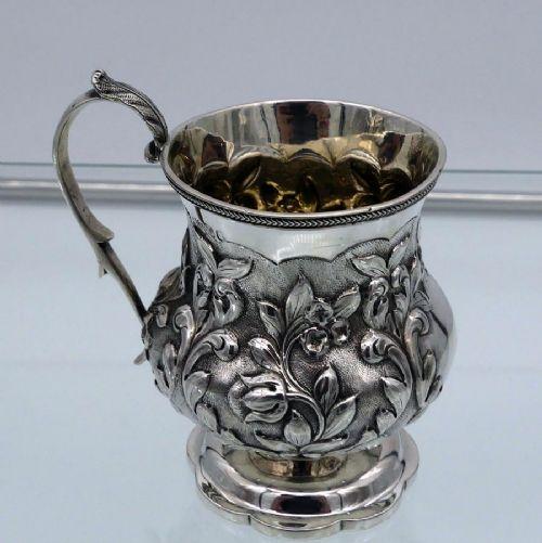 antique william iv sterling silver christening mug london 1830 george burrows ii richard pearce