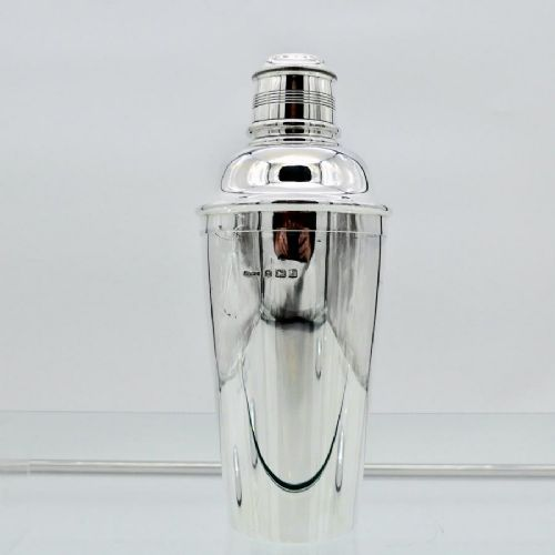 george v sterling silver cocktail shaker birmingham 1933 angora silver plate co