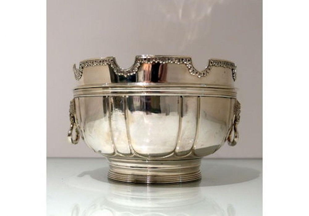 early 20th century modern george v sterling silver monteith bowl london 1928 d j welby