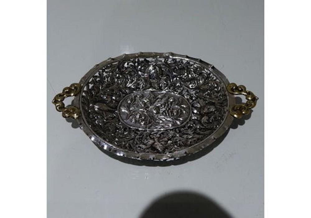 antique german silver dish nurnberg circa 1695 wolfgang rossler