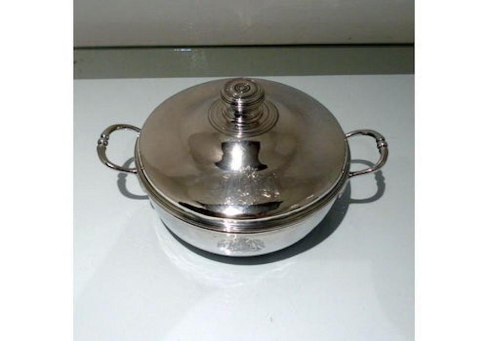 18th century antique french silver entree dish circa 1765 paris guillaume pigeron