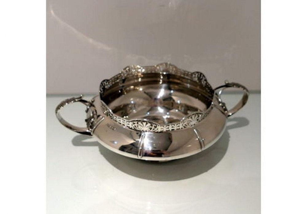 early 20th century antique george v sterling silver flower bowl sheffield 1926 walker hall
