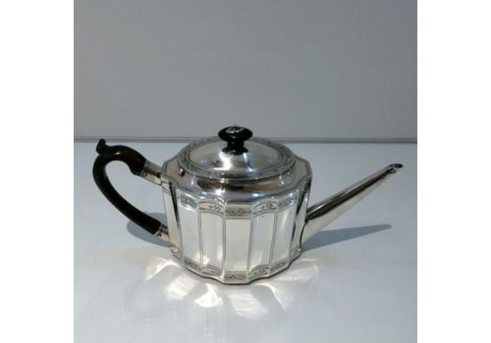 18th century antique george iii sterling silver teapot london 1789 john robins