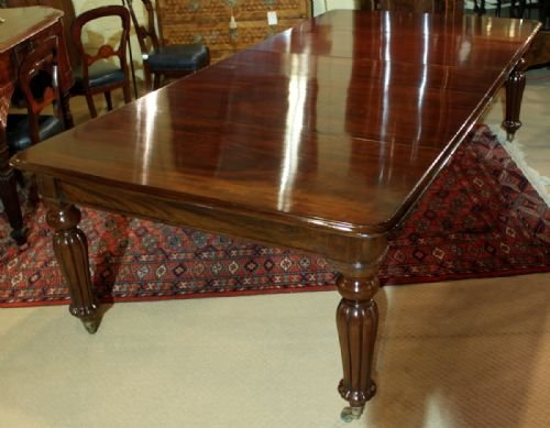 an elegant 1012 seater early victorian cuban mahogany dining table