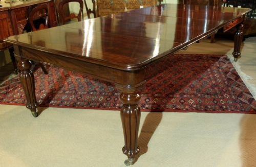 an elegant 1012 seater early victorian cuban mahogany dining table - photo angle #3