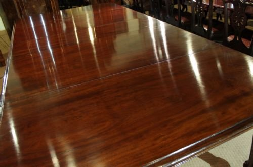an elegant 1012 seater early victorian cuban mahogany dining table - photo angle #5