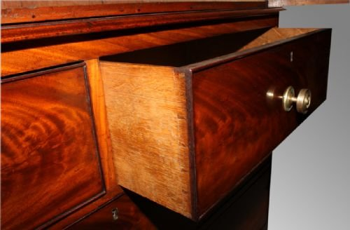 mahogany regency period linen press - photo angle #4