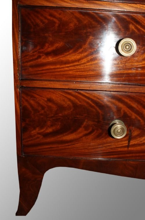 mahogany regency period linen press - photo angle #5