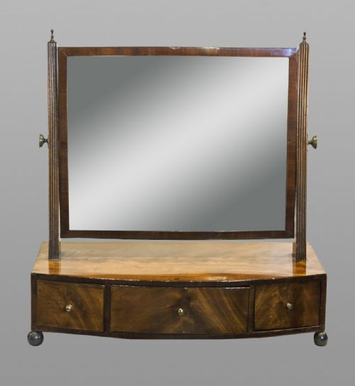 Regency Mahogany Dressing Table Mirror With Drawers 199094 Sellingantique